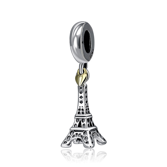 New 925 Sterling Silver Charm Bead Plane Travel Camera Eiffel Tower Beads Fit Original Pandora Bracelet charm DIY Jewelry Gift