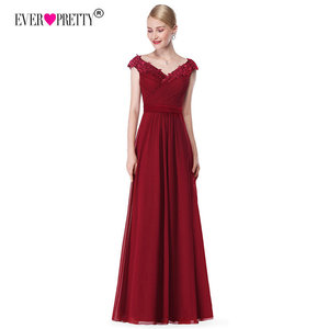 Image 5 - Wedding Party Gowns Plus Size Evening Dresses 2020 Womens Long Elegant V neck Sleeveless A line Chiffon Evening Gowns