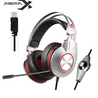 XIBERIA K5 Best Gaming Headphones with Microphone USB 7.1 Sound/3.5mm Heavy Bass Game Headset for PC Gamer PS4 Xbox one Phone