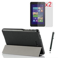 1xScreen Protector Ultra Thin Slim Sleeve Magnetic Folio Stand Leather Case Smart Cover For Dell Venue