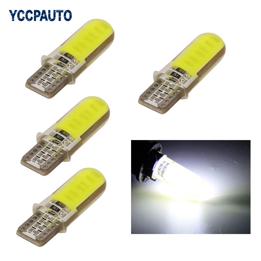 T10 W5W LED car interior light wedge parking light canbus auto marker lamp 12V 194 501 SMD bulb car styling cob 4pcs white