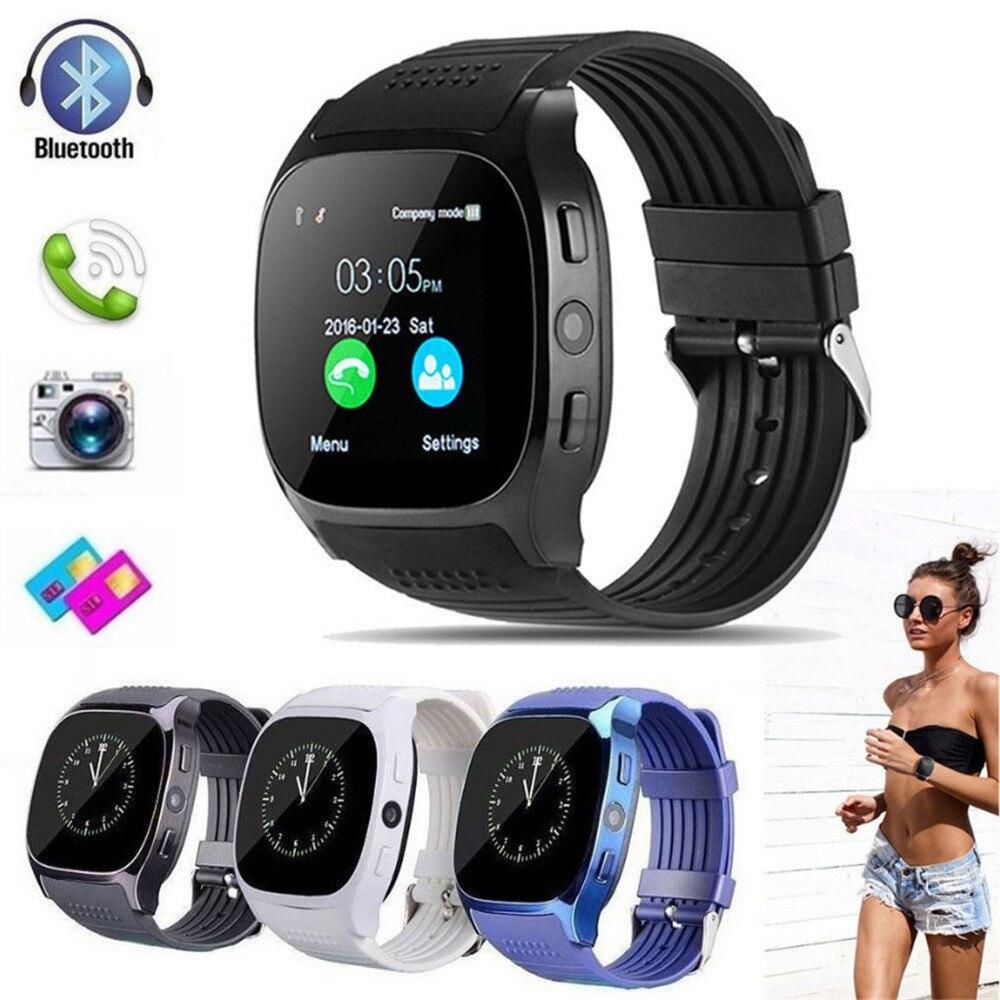 T8 Bluetooth Smart Uhr Mit Kamera Facebook Whatsapp Unterstützung SIM TFcard Anruf Sprot Smart Uhr Remote Armbanduhr Für Android