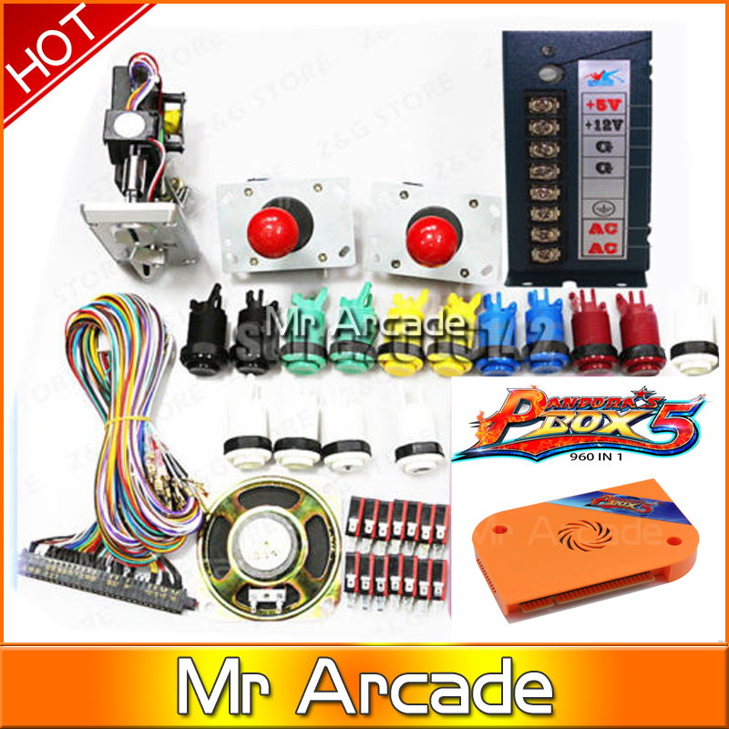 new 960in1 Jamma Arcade kit only HDMI/VGA Output arcade accessories For Arcade cabinet Pandora's Box 5 with coin 2016 made in china kit arcade pandora box 4 vga and hdmi hd av output control joystick controller