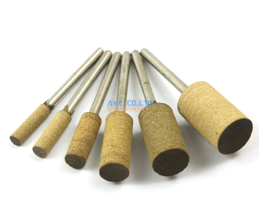 24 Pieces Set Barrel Mounted Leather Polishing Point Grinding Bit 3mm Shank