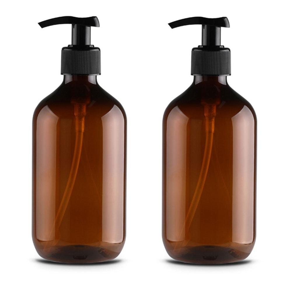 2PCS Container Liquid Foam Lotion Shampoo Round Shoulder Bathroom Soap Dispenser With Pumps Kitchen Countertops Storage Bottle