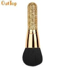 OutTop amor belleza femenina 1 pc grande de lentejuelas oro cosmético belleza maquillaje cepillo de base de polvo de O20 gota ShippingHW