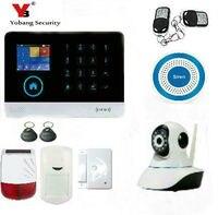 YoBang Beveiliging Draadloze WIFI Zonne Sirene Glas Gebroken PIR Immuun Sensor IP Camera Touch Toetsenbord Gor GPRS Home Security Alarm.-in Alarm Systeemkits van Veiligheid en bescherming op