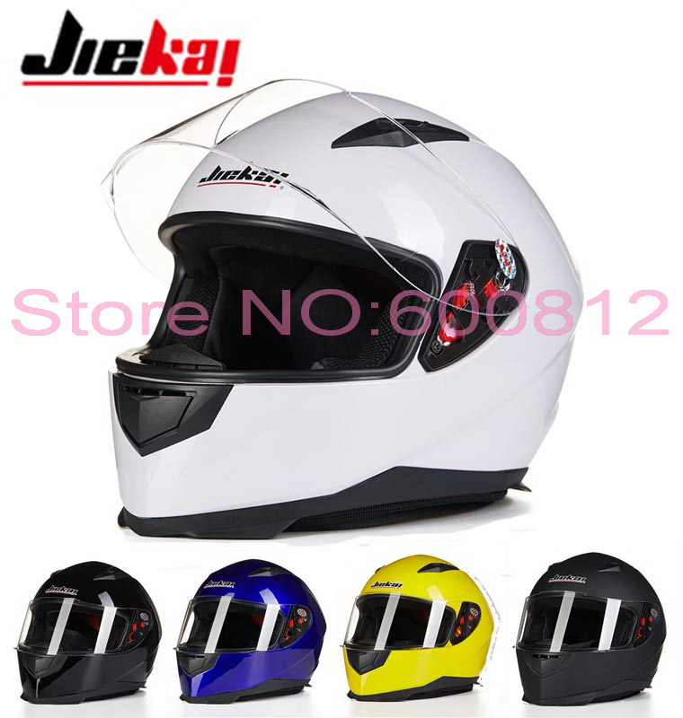 JIEKAI JK313 Full Face motorcycle helmet mens winter knight racing motorbike helmets ABS four seasons size L XL