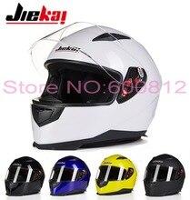 JK313 JIEKAI Анфас мотоциклетный шлем мужская зима рыцарь гоночный мотоцикл шлемы ABS four seasons размер L XL