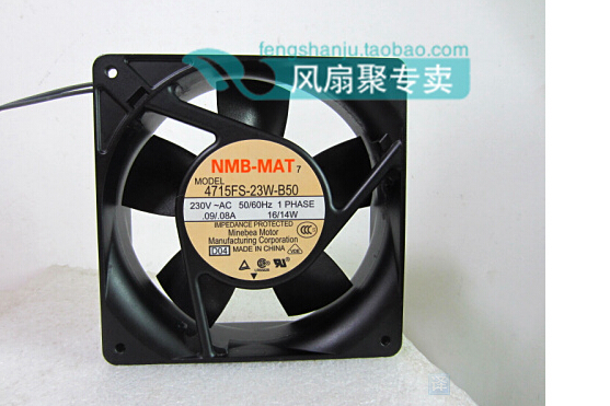 New original NMB 4715FS-23W-B50 230V 16/14W 12cm12038120*120*38MM AC fan new and original 12cm 4715kl 04w b50 12038 1 3a double row ball bearing cooling fan for nmb 120 120 38mm