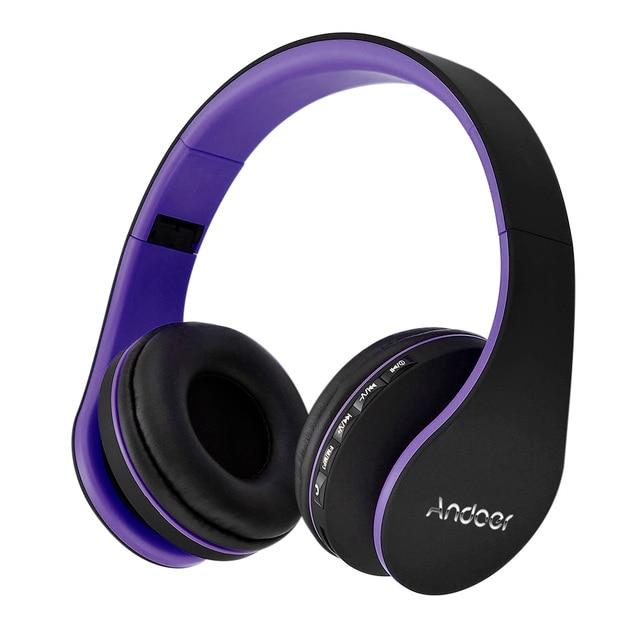 Лучшие Продажи Andoer Беспроводные Наушники Цифровой Стерео Bluetooth 4.1 + EDR Гарнитура Карты mp3-плеер Для Наушников Fm-радио Музыка для всех