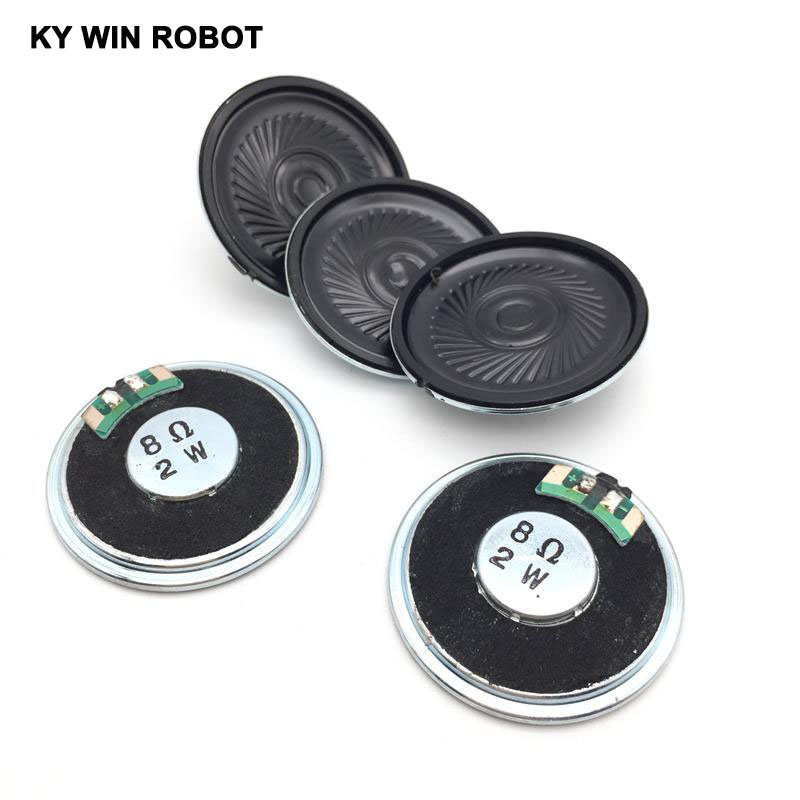 5pcs/lot New Ultra-thin Speaker 8 Ohms 2 Watt 2W 8R Speaker Diameter 40MM 4CM Thickness 5MM