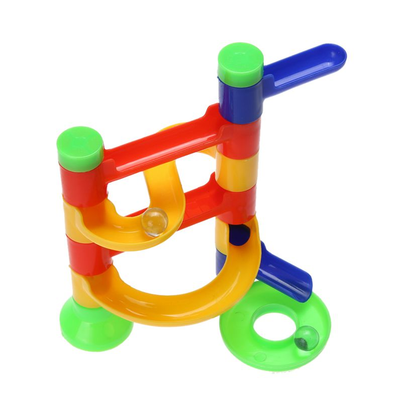 Marble Toys Blocks : Pc diy construction marble race run maze balls track
