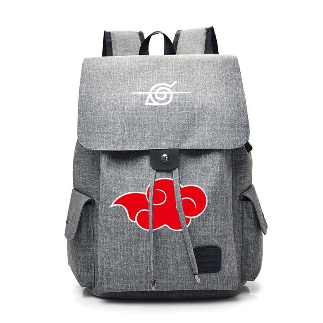 Anime Naruto Cartoon Canvas Backpack for Teenage Akatsuki Itachi Sharingan School Daypack Large Capacity Shoulder Bags Mochila