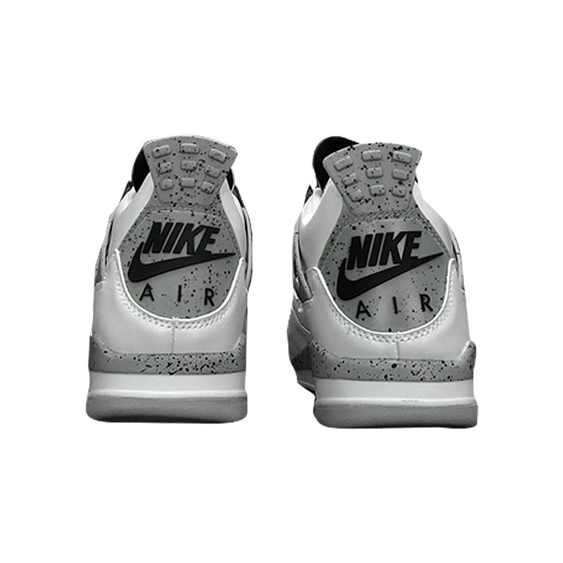 46289e75a67 Original Nike Air Jordan 4 Boys Basketball Shoes Jordan 4 White Cement
