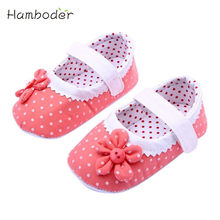 2017 Summer Baby Girls Wave Flower Shoes Soft Sole Toddler PU Leather Crib Shoes 3Colors S-L 58(China)