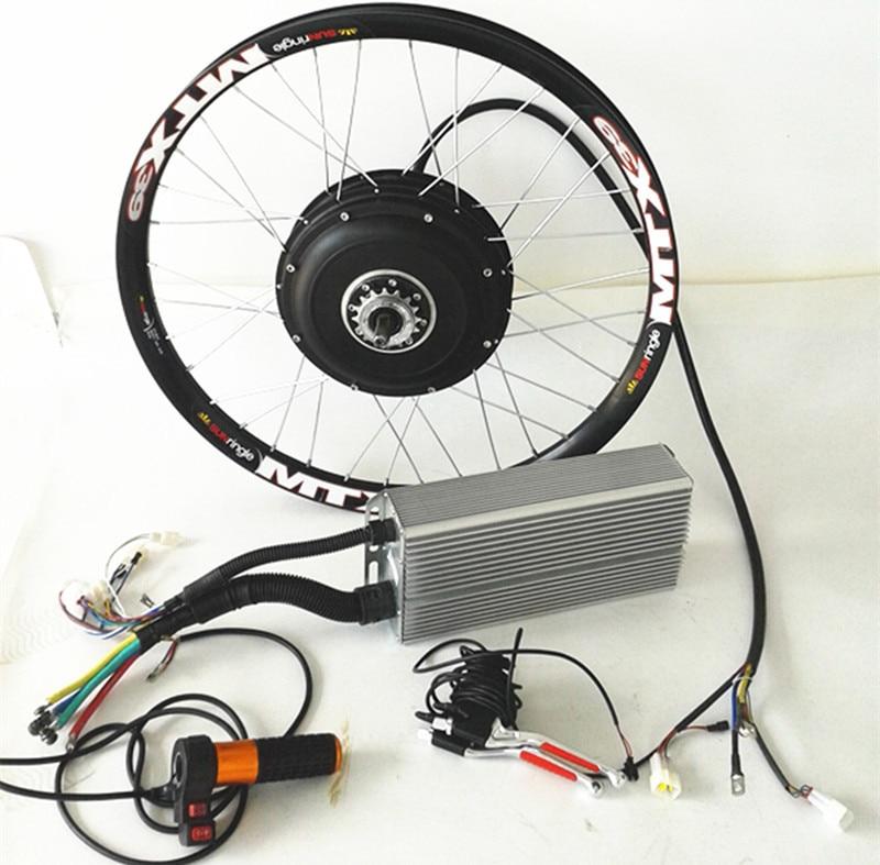 26 5kw electric bike kit 5000w brushless hub motor kit for Bicycle electric motor kits