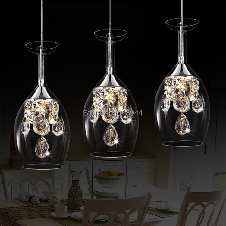 2015 New Glass Pendant Lights Hanging Pendentes Modern Crystal LED Pendant Lamp Lustres De Cristal Pendant Light Fixture modern mirror sliver glass pendant lights lustres spherical globle ball pendant lamps hanging light fixture luminaria