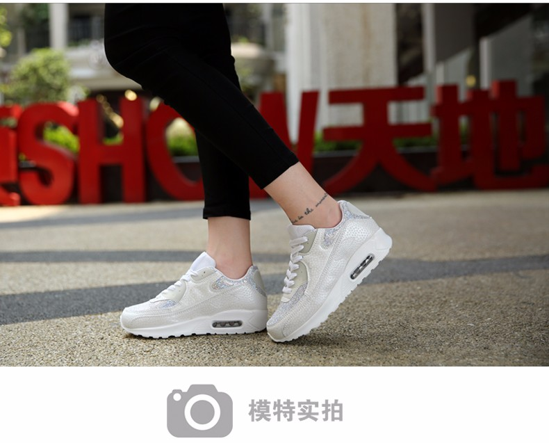 Fashion KUYUPP Wedges Women Trainers Breathable Sport Sequined Cloth Casual Shoes Outdoor Walking Shoes Zapatillas Mujer YD36 (19)