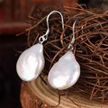 Freshwater Pearl Dangling Earrings Bridal Jewelry Wedding Gift Water Drop Earrings Sexy Women Dinner Dress Female Luxury Jewelry