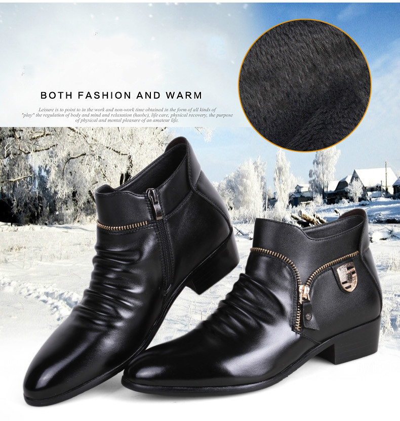 ba2e803f2b5 Detail Feedback Questions about Sycatree 2019 Winter Zipper Luxury Ferrari  Men s Casual Shoes Warm Cow Leather British Style Men Loafers Ferrary  Business ...