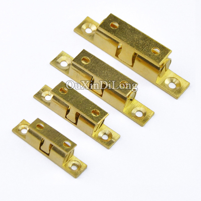 NEW 10PCS Brass Cupboard Drawer Cabinet Double Ball Catch Door Latch Touch  Beads Lock Spring Clip
