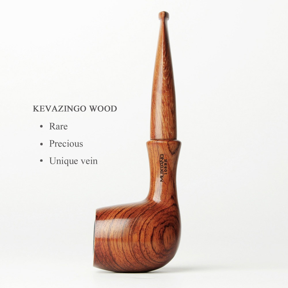 Handmade Tobacco Pipes + Wooden Pipe Stand + 10 Tobacco Pipe Accessories -3 In 1 Knife Filters Screen Ball Cork Knoker Ad0001-A