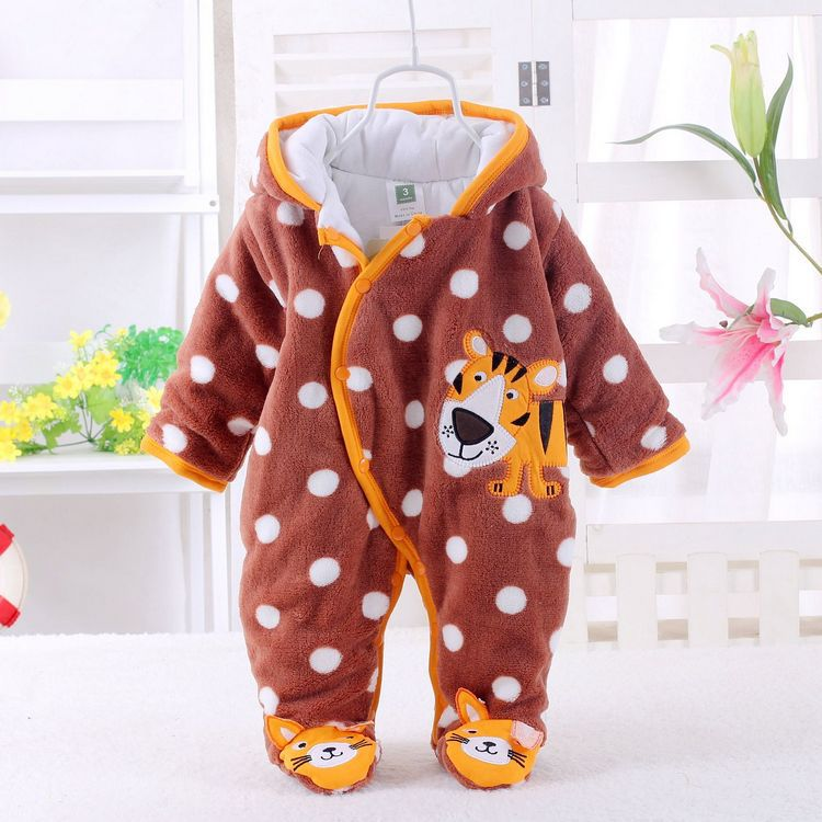 2015 Winter Newborn Baby  Rompers Cotton-Padded Baby Boy Girl Clothes Jumpsuits Overalls newborn baby rompers autumn winter package feet baby clothes polar fleece infant overalls baby boy girl jumpsuits clothing set
