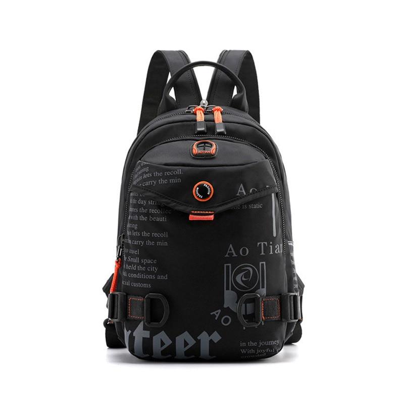 Mochila casual masculina 2019 nova impermeável náilon pequeno fim de semana mochila de viagem para homens sacos de escola para meninos adolescentes pacote de volta