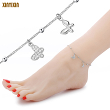 ФОТО butterfly pentacle clover notes heart owl ball charm bracelet anklet ms. fashion beach anklet girl jewelry bracelet on the leg