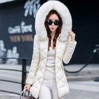 Winter Jacket Women 2018 New Fashion Winter Coat Women Faux fur collar hooded Thick warm winter coat & Parkas Female S XXXL