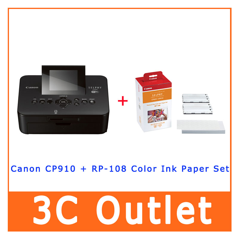Canon Selphy Cp910 Portable Wireless Compact Photo Color Printer