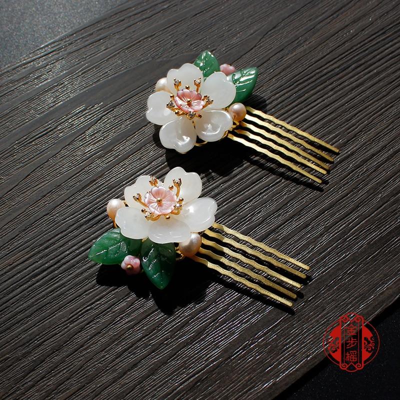 Handmade Women Chinese Style Palace Retro Wood Headdress Hairpin Hair Sticks
