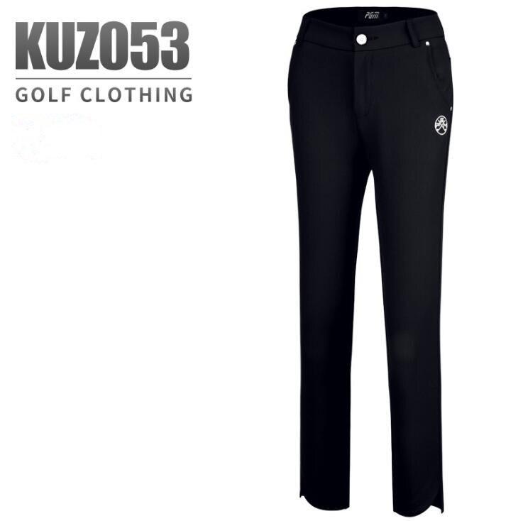 2019 new PGM golf apparel Women's breathable quick-drying golf pants ladies summer comfortable elasticity Slim black capris pant