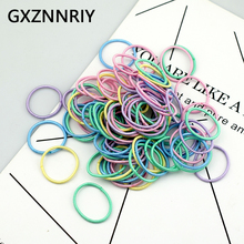 100PCS/Lot 3cm Rubber Hair Elastic for Girls Accessories Elastic Hair Bands Ponytail Holder Fashion Baby Kids Scrunchies GiftS aikelina 100pcs lot 3cm cute girl ponytail hair holder hair accessories thin elastic rubber band for kids colorful hair ties
