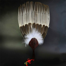 Chinese Style Retro Goose Feather Fan Classical Craft Gossip Hand Performance Props Abanicos Para Boda Yelpaze