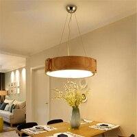 Японский Стиль твердой древесины Освещение для обеденной творческая личность светодиодный Спальня потолок/кулон Тип лампы Бесплатная дос