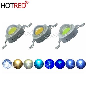 100 sztuk 1W 5W 3W High Power cree LED białe światło diody świecące SpotLight lampa świecąca W dół diody lampa żarówka czerwony 620nm 660nm LED Light tanie i dobre opinie HotRed Piłka 1w 3w 5w led 3 0-3 6 V 350-700mA