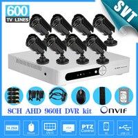 Video Surveillance 600tvl Camera Security System 8ch Cctv AHD 960h Network Dvr Recorder Kit 8 Channel
