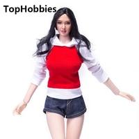 Vs041 1/6 женская одежда костюм для женщин Красный Повседневное отдыха спортивное пальто джинсовые штаны костюм vs041 Fit 12 дюймов кукла Phicen