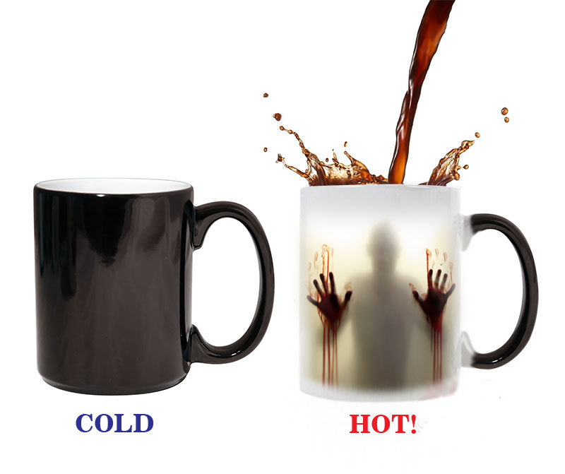The walking dead Mug color changing Heat Sensitive Ceramic 11oz coffee cup surprise gift