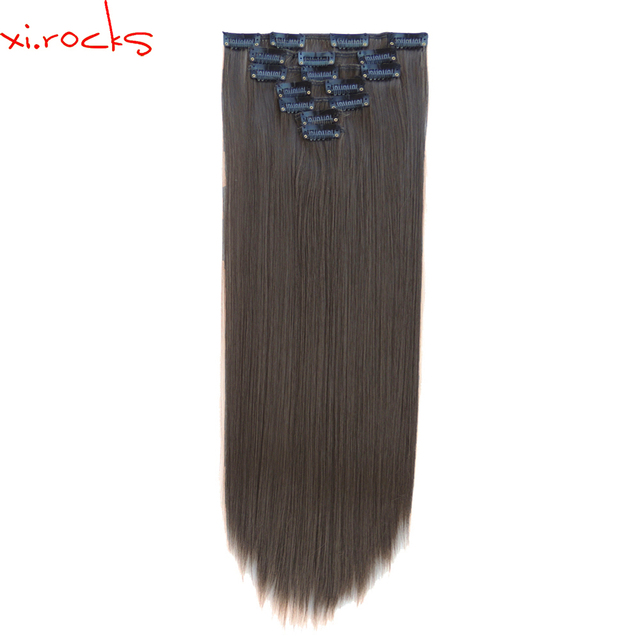 2set 7pcsset Xicks Synthetic Clip In Hair Extensions 55cm