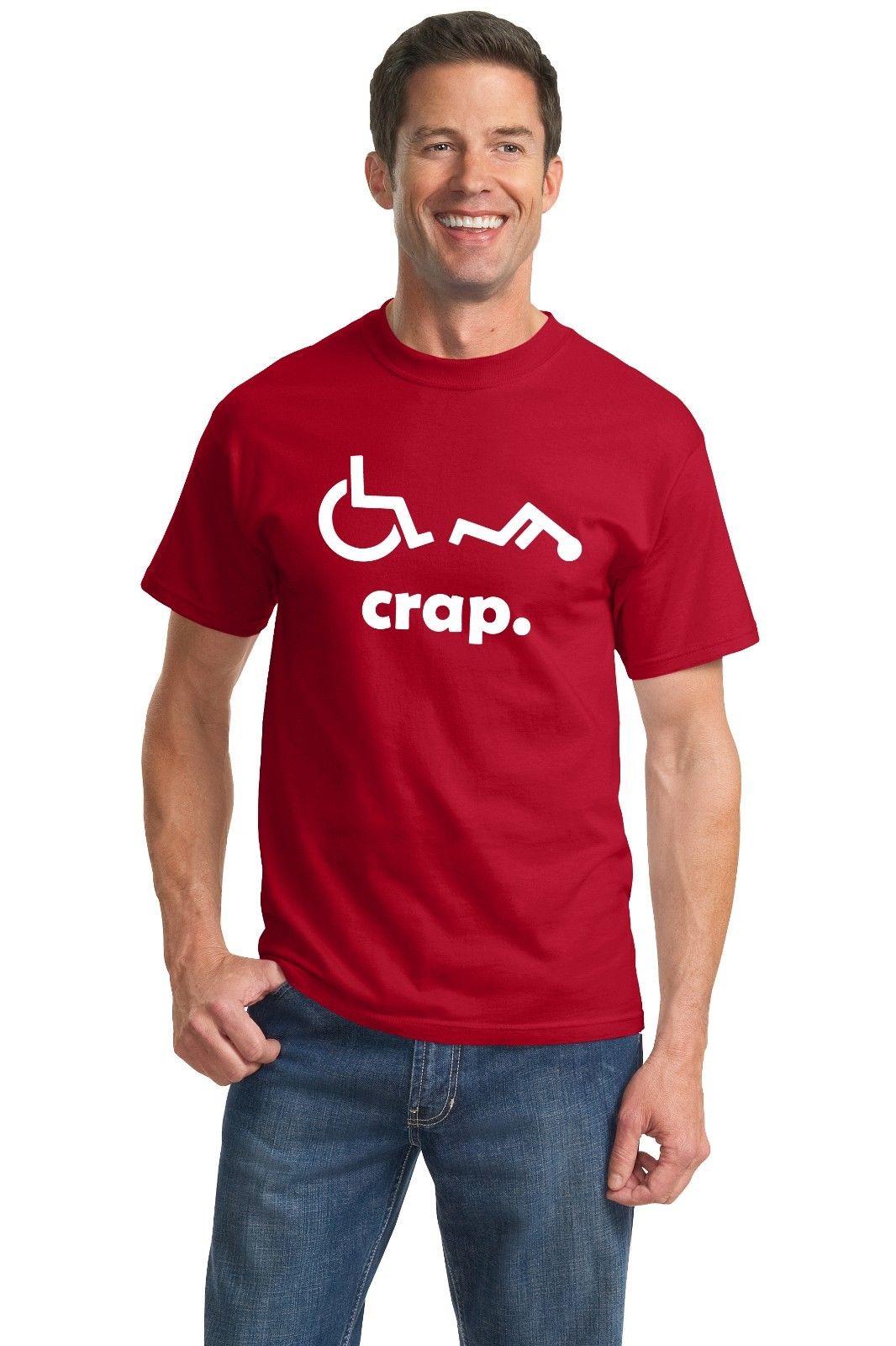 Crap Handicap Funny font b Wheelchair b font font b Disabled b font Rude Offensive Humor