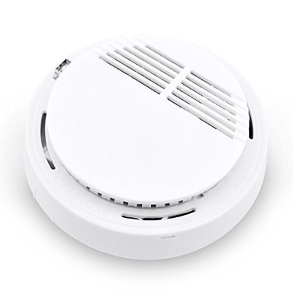 2017  NEW 433MHZ  Wireless Smoke Sensor Detector Burglar Alarm System for Home Security with Battery White wireless vibration break breakage glass sensor detector 433mhz for alarm system