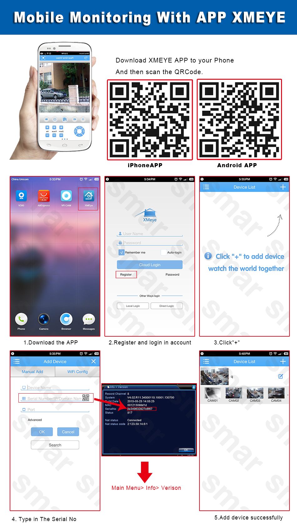 5-Mobile Monitoring With APP XMEYE