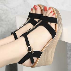 2fe1183f024 D Henlu Women Shoes Wedge Platform Summer Gladiator Sandal