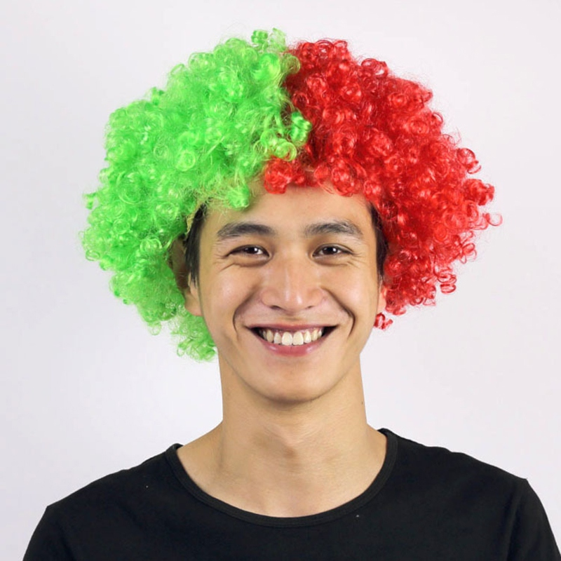 Forte Nuova Russia Coppa Del Mondo Parrucca Wild-curl Up Celebrazioni Di Festival Copertura Della Testa Parrucca Testa Di Usura Parrucchino Parrucchino