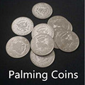 Palming monedas ( medio dólar ) 10 unids/lote - trick, trucos de magia, magia con monedas, props, accesorios, truco de magia, comedia