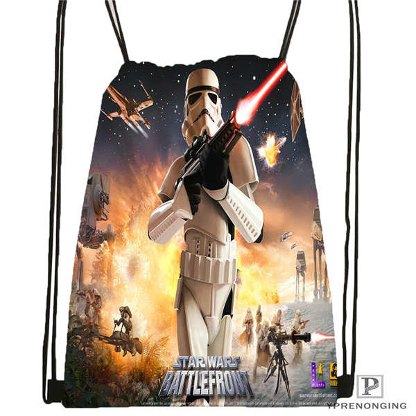 Custom Star_Wars_-_Knights  Drawstring Backpack Bag Cute Daypack Kids Satchel (Black Back) 31x40cm#180612-02-37