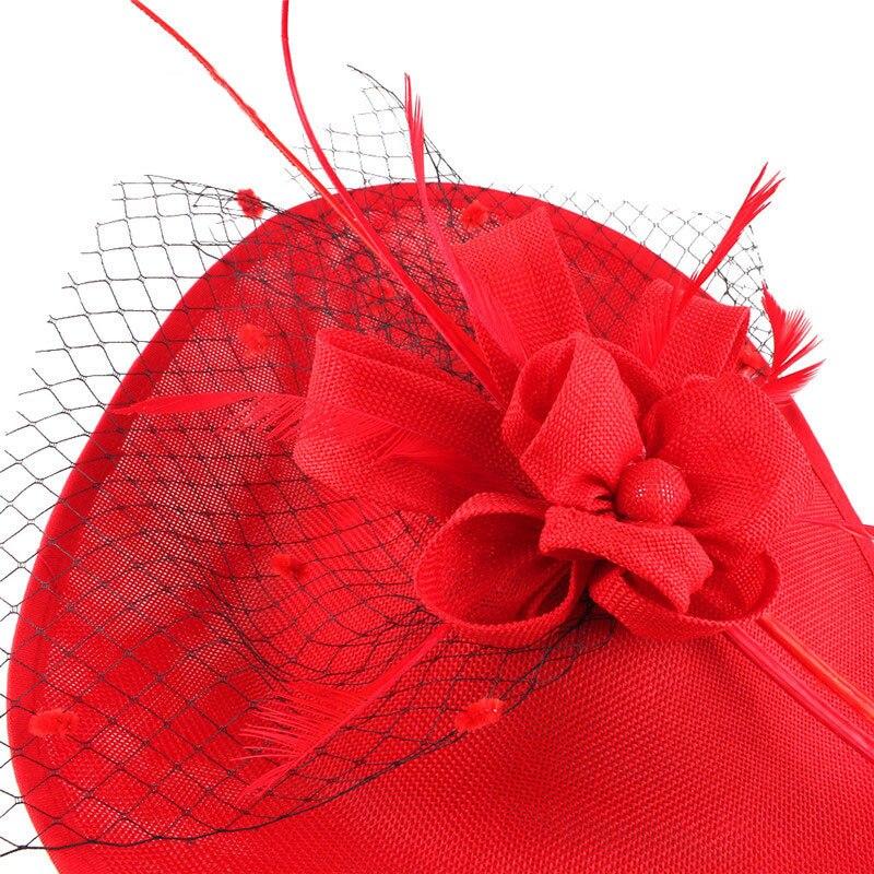 Veer Cap Lady Cocktail Diner Party Fedora Wedding Bridal Mesh Sluier Hoeden Vintage Sombrero Chapeau Fascinators Hoed M65